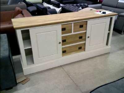 bahut laque plateau chene 190cm abime d 39 occasion. Black Bedroom Furniture Sets. Home Design Ideas