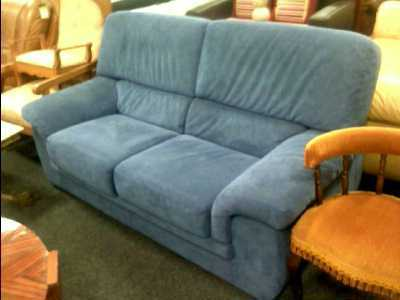 canape 2 places alcantara bleu d 39 occasion. Black Bedroom Furniture Sets. Home Design Ideas