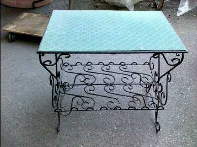 desserte fer forge d 39 occasion. Black Bedroom Furniture Sets. Home Design Ideas