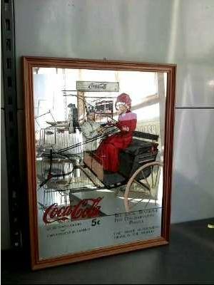 Miroir publicitaire coca cola d 39 occasion for Miroir publicitaire