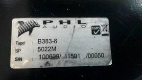 HAUT PARLEUR PHL 5022 M , 38 CM Grigny