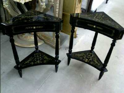 petit meuble art deco marqueterie noir d 39 occasion. Black Bedroom Furniture Sets. Home Design Ideas