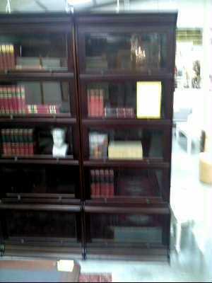 vitrine bibliotheque anglais ronce d 39 acajou bisaute glace. Black Bedroom Furniture Sets. Home Design Ideas